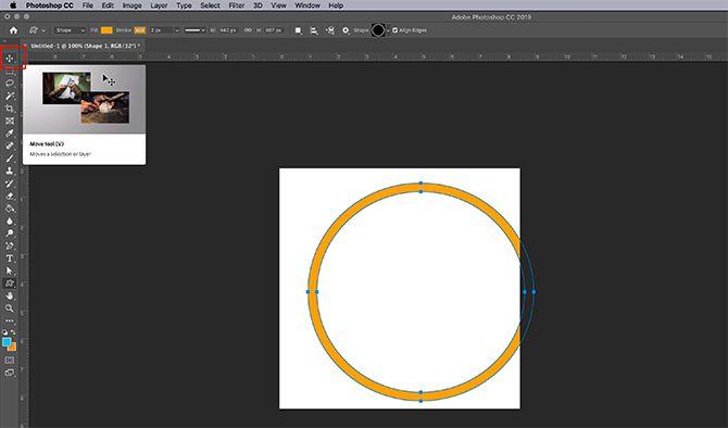 How to Make Virtual Photo Frame Photoshop Draw Shape