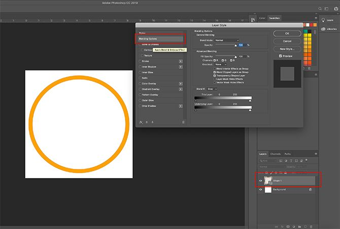 How to Make Online Photo Frame Photoshop Layer Style