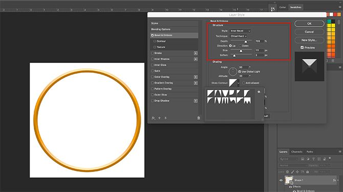 How to Make Online Photo Frame Photoshop Layer Style Structure