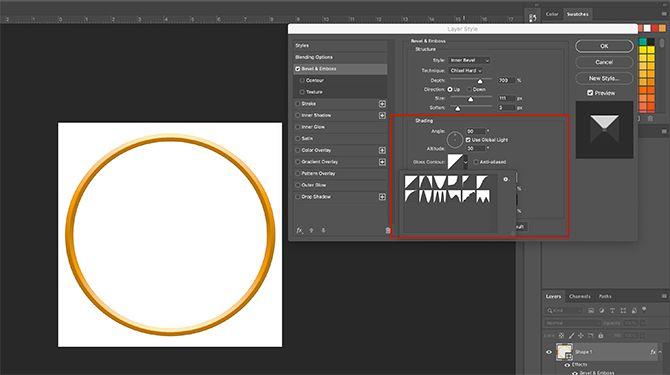 How to Make Photo Frame Photoshop Layer Style Shading