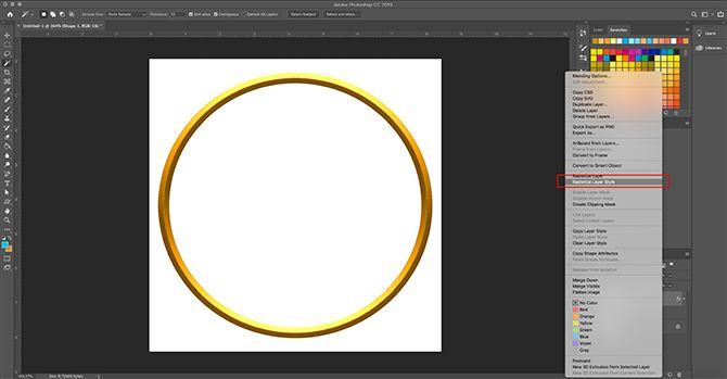 How to Make Digital Photo Frame Photoshop Rasterize Layer Style