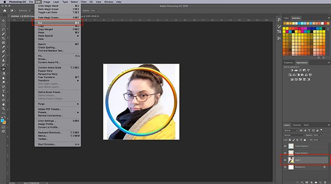 How to Make Virtual Photo Frame Photoshop Cut Picture
