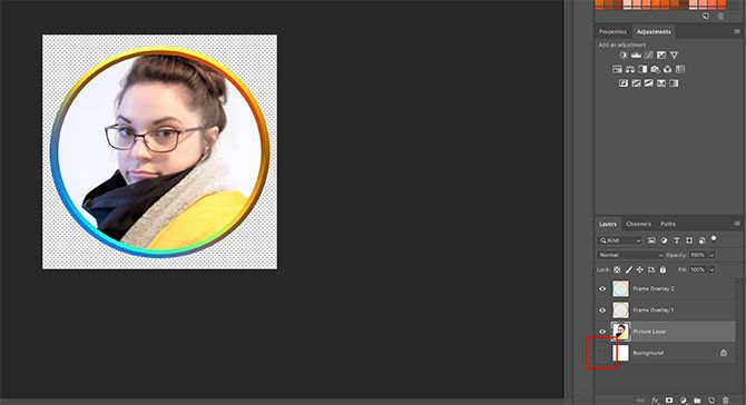 How to Make Online Photo Frame Photoshop Check Transparency