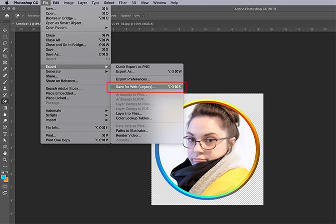 How to Make Online Photo Frame Photoshop Save for Web
