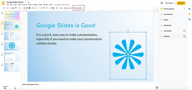 How to Recolor Images and Objects in Google Slides
