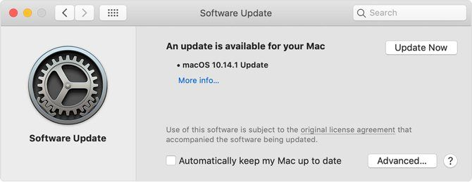 Updating software on macOS