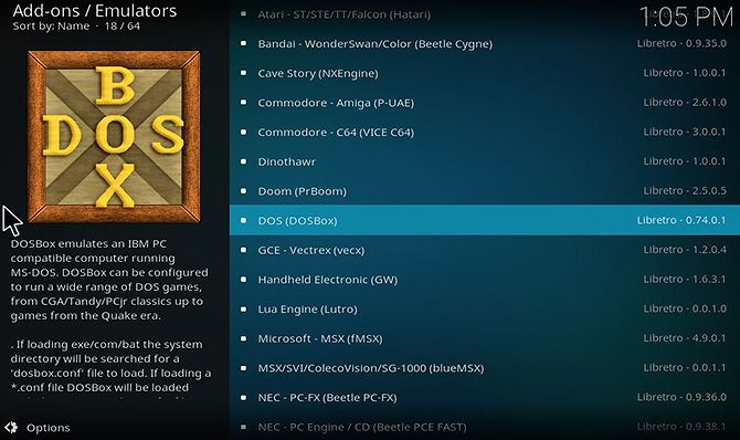 How to Play Games on Kodi Using Retroplayer