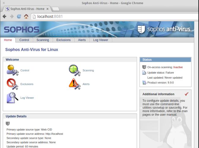 linux antivirus sophos