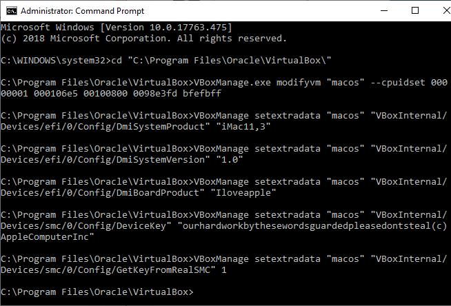 macos virtual machine command prompt virtualbox