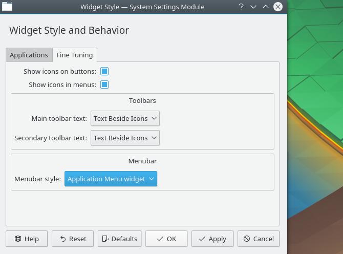 Tweak Plasma виджеты для создания внешнего вида MacOS