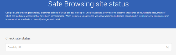 use the Google Safe Browsing tool to check suspicious links