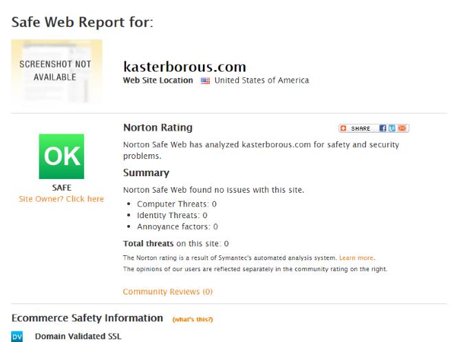 Check links with Norton Safe Web