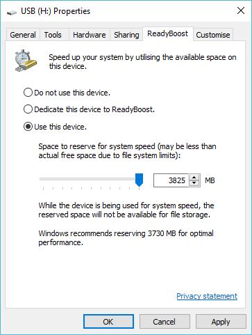Speed up Windows with ReadyBoost