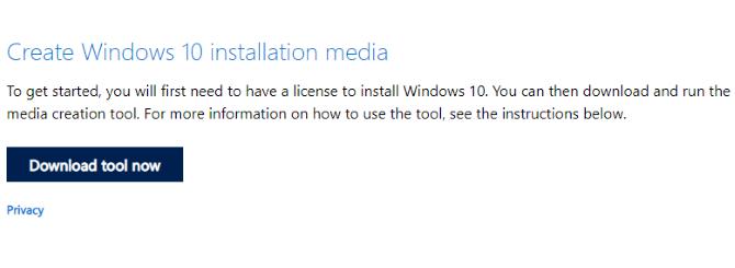 قم بتنزيل وسائط تثبيت نظام التشغيل Windows 10