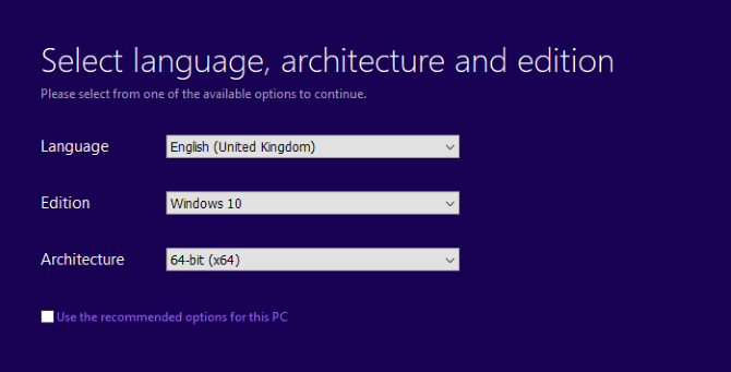 Set the correct language for Windows 10