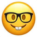 geek glasses emoji emoticon