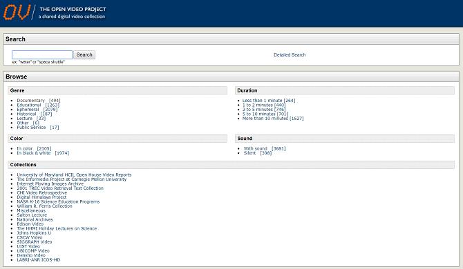 open video project menu