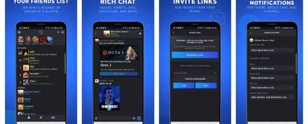 Valve Launches a Steam Chat App for Mobile