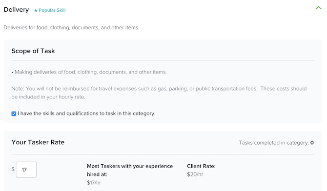 TaskRabbit jobs in the Delivery category