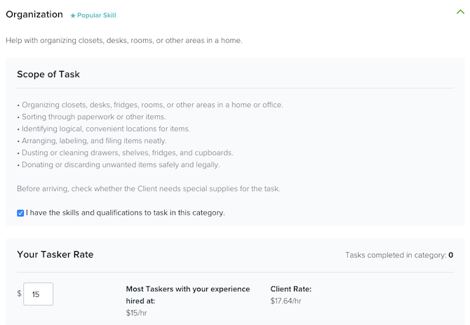 TaskRabbit jobs in the Organization category