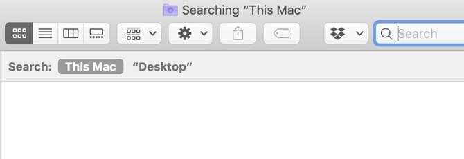 Searching Mac with the keyboard shortcut