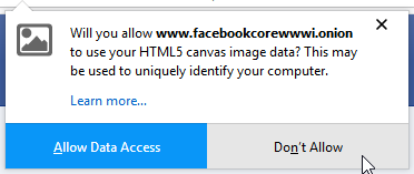 tor browser dont allow canvas