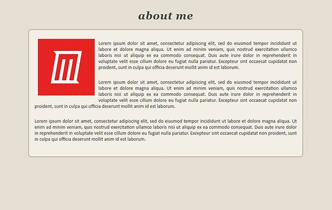 Website Templates - About Me