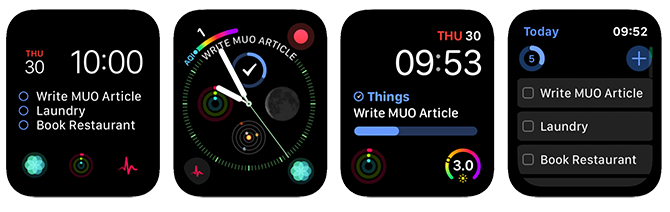Apple Watch Complications Things 3 App