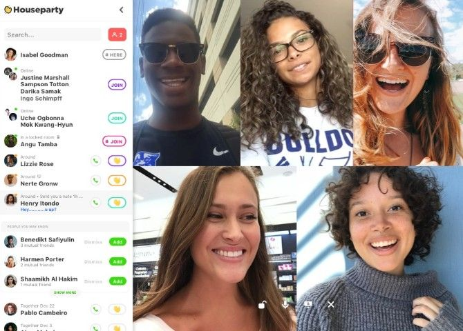 Houseparty is a video calling social network for always-on calls with friends, and meeting friends of friends