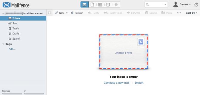 Mailfence Web Gelen Kutusu