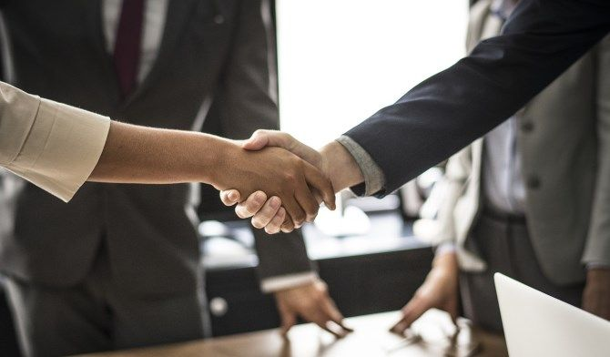 Shaking Hands Business