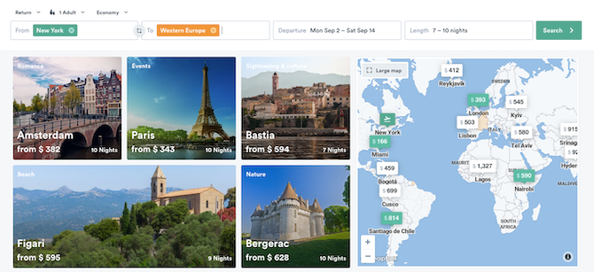 How to book cheap flights to Europe by selecting the whole region
