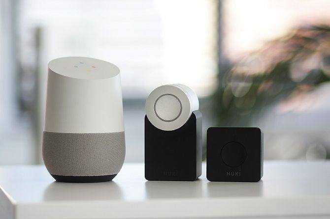 Google Home commands smart devices lock