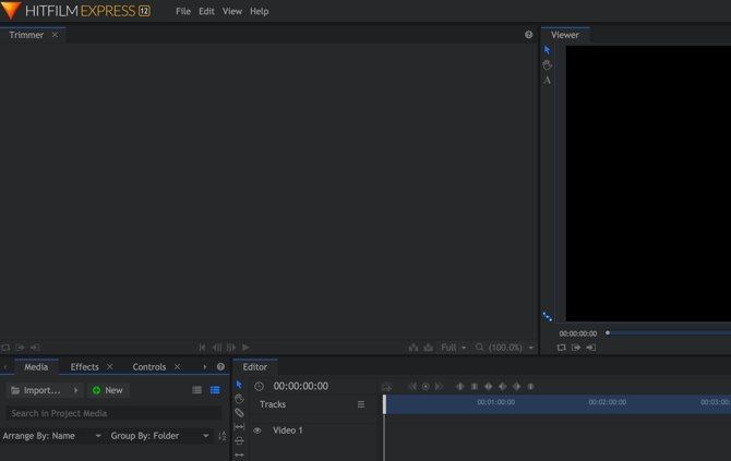 HitFilm Express vs. DaVinci Resolve - HitFilm Express main window