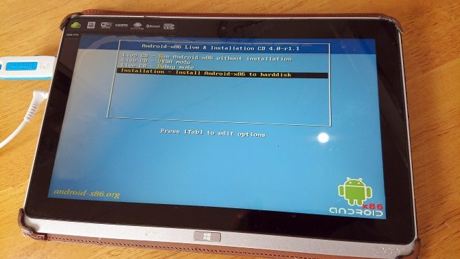 Android'i Windows tabletinize yükleyin