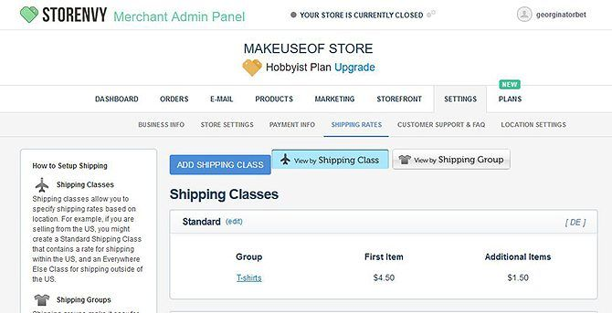Set Up Your Own Online Store for Free - Set Shipping Rates