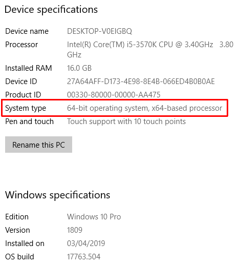 windows system info