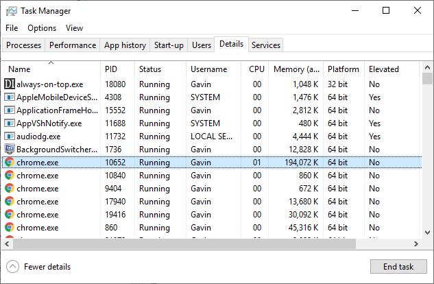 windows task manager details