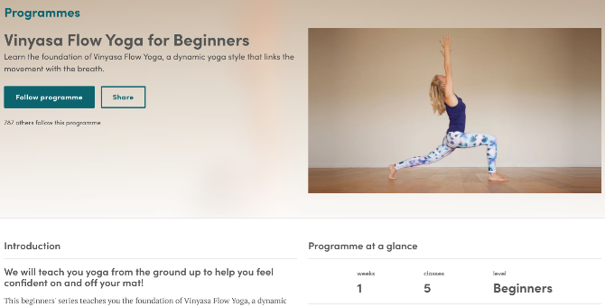 Esther Ekhart's free yoga course vinyasa flow for beginners