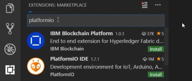 PlatformIO Extension in VS Code