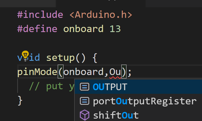 VS Code suggests and completes code
