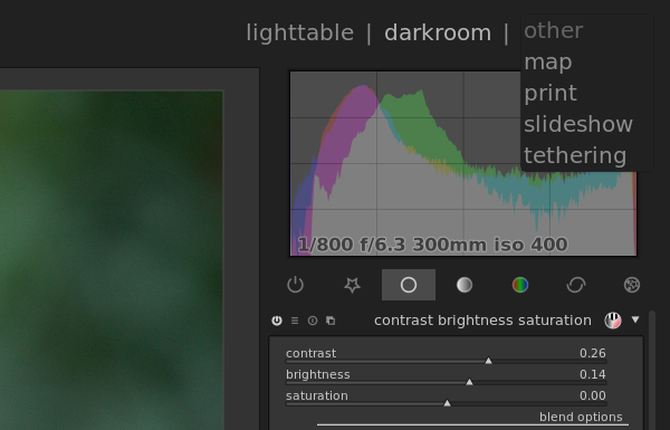 Other features in Darktable