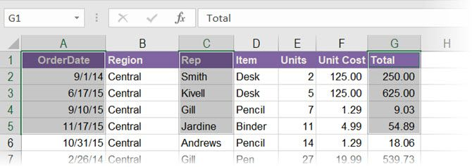 Select non-adjacent groups of cells with the Excel Name Box