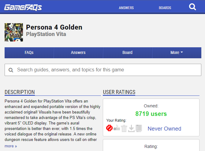 video game guides - GameFAQs
