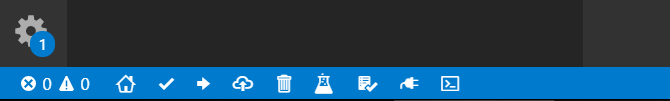 New Icons in the VS Code bottom toolbar