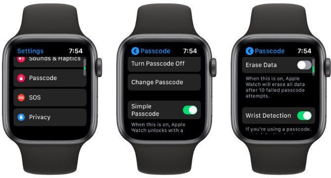 Apple Watch Passcode Lock