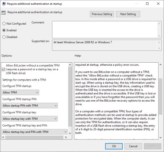 bitlocker turn on drive encryption