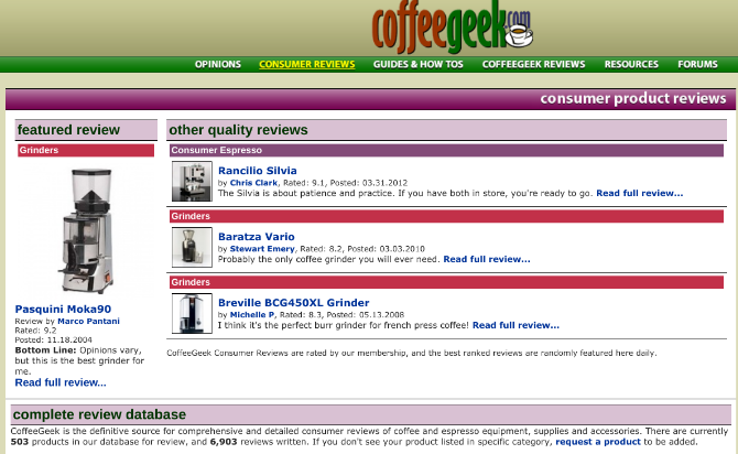 Coffee Geek is the internet's leading encyclopedia for all things coffee