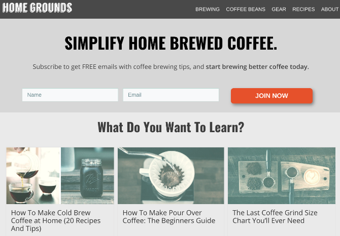 Home Grounds has simple guides to make professional level coffee at home