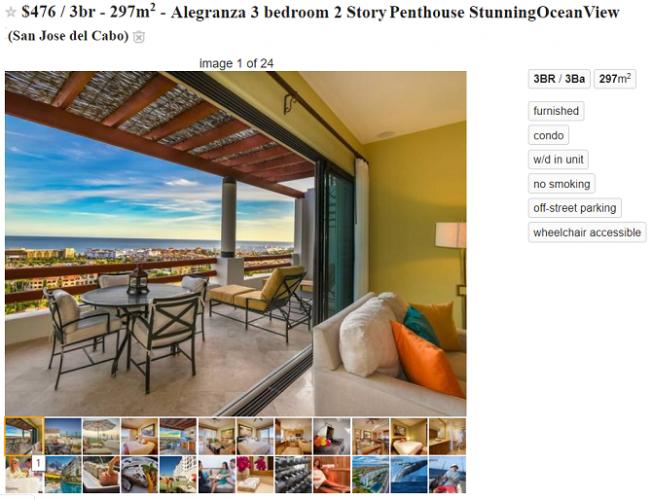 craigslist apartment listing